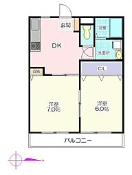 オードリーマンション[1階]の間取り