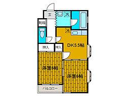 メゾン文京[1階]の間取り