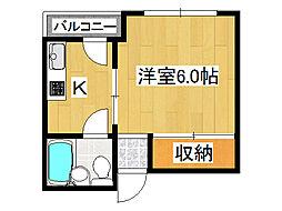 ワコー新今里[4階]の間取り