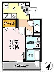 Tango Heights赤坂[2階]の間取り