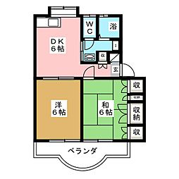 アメニティイズミ[1階]の間取り
