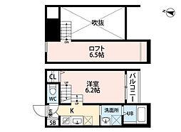 anpersand上白水(アンパーサンド)[2階]の間取り
