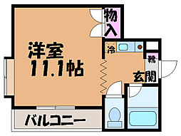 愛媛県東温市横河原の賃貸マンションの間取り