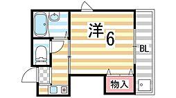 タカシハイツ[305号室]の間取り