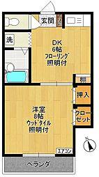 ヨシザワ第11マンション[305号室]の間取り