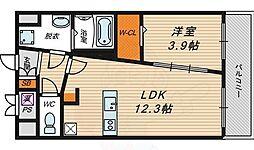 Estate NOE 2階1LDKの間取り