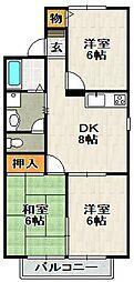 ソレーユ宝塚[201号室]の間取り