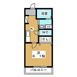 Art Hills Shinyurigaoka 1階1Kの間取り
