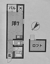 サンサーラ泉弐番館[202号室]の間取り