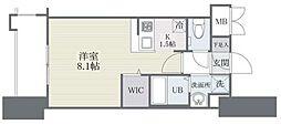 西鉄天神大牟田線 高宮駅 徒歩21分の賃貸マンション 8階1Kの間取り