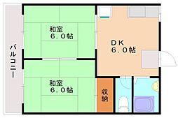 ハイツジュノン[2階]の間取り