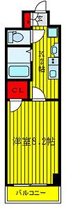 間取り,1K,面積26.54m2,賃料7.9万円,東武東上線 ときわ台駅 徒歩8分,東武東上線 上板橋駅 徒歩8分,東京都板橋区東新町1丁目7-16