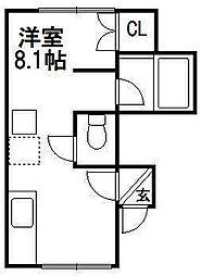 ARS Tsukisamu two[3階]の間取り