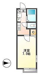 ヒルスクエア[2階]の間取り