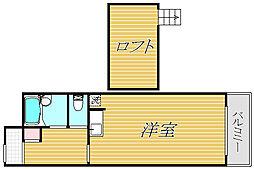 ライオンズマンション田奈[2階]の間取り