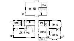 [一戸建] 兵庫県宝塚市美座2丁目 の賃貸【/】の間取り