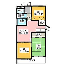 フェステ菊屋第6[2階]の間取り