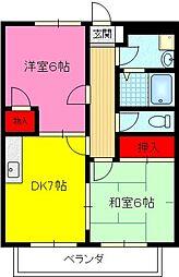 リバーサイド2[3階]の間取り