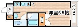 兵庫県神戸市中央区二宮町3丁目の賃貸アパートの間取り