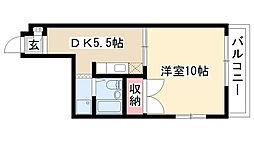 愛知県名古屋市昭和区檀溪通4丁目の賃貸マンションの間取り