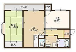 シェモア忍ケ丘[203号室]の間取り