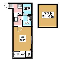 リヴェールF・P・N[2階]の間取り