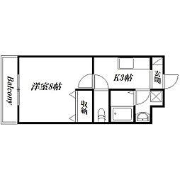 静岡県浜松市浜北区小松の賃貸マンションの間取り