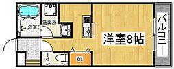 コンフォルト忍ヶ丘[1階]の間取り