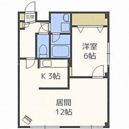 北海道札幌市東区北三十一条東17の賃貸マンションの間取り