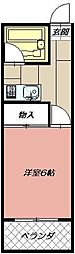 ブロッサム・モンジ[108号室]の間取り