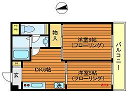 東京都武蔵野市吉祥寺本町1丁目の賃貸マンションの間取り