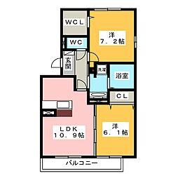 D−room北一色[3階]の間取り