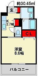 グラーツィア畠中[7階]の間取り