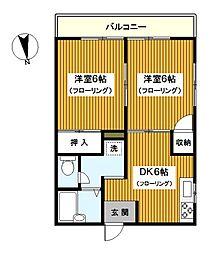 神奈川県横浜市保土ケ谷区新桜ケ丘2丁目の賃貸マンションの間取り