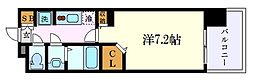 名古屋市営名城線 黒川駅 徒歩3分の賃貸マンション 13階1Kの間取り