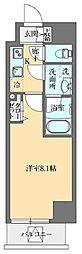 東京メトロ丸ノ内線 御茶ノ水駅 徒歩11分の賃貸マンション 8階1Kの間取り