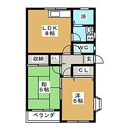 メゾンド井上[2階]の間取り