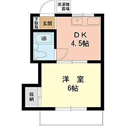 竹の家荘[203号室]の間取り