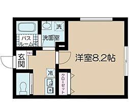 JR中央本線 吉祥寺駅 徒歩7分の賃貸マンション 2階1Kの間取り