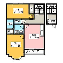 カーサ・ソフィア B棟[2階]の間取り