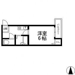 プラネット小阪[201号室号室]の間取り