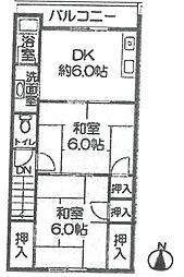 塚口グリーンハイツ4[202号室]の間取り