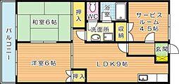 コーユー森下[2階]の間取り