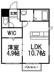 MFレジデンス東札幌[301号室]の間取り