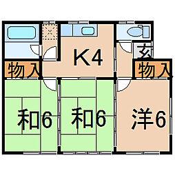 [一戸建] 福島県福島市瀬上町字桜町2丁目 の賃貸【/】の間取り