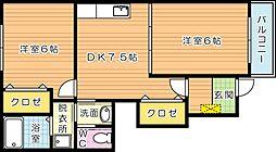 メゾン木屋瀬 B棟[1階]の間取り