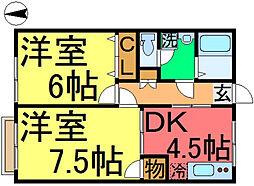 三家第1ビル[4階]の間取り