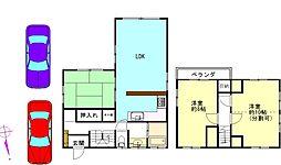 [一戸建] 千葉県八街市八街い の賃貸【/】の間取り