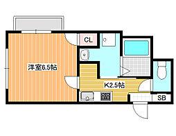オーシャン青山[2階]の間取り