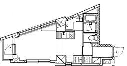 KukaiTerrace恵比寿 3階ワンルームの間取り